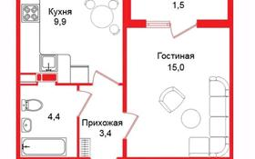 1-комнатная квартира, 35 м², 5/12 этаж, мкр Акбулак, 1-я улица 43 за 15.5 млн 〒 в Алматы, Алатауский р-н