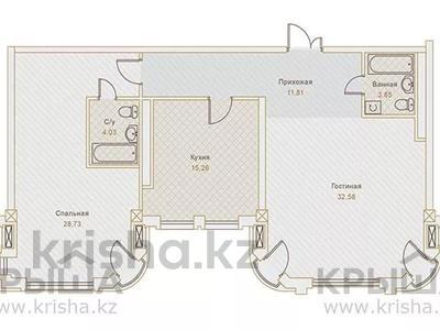 2-комнатная квартира, 99.86 м², Назарбаева — Хаджимукана за ~ 75.9 млн 〒 в Алматы, Медеуский р-н — фото 2