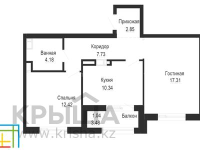 2-комнатная квартира, 57.44 м², 4/12 этаж, проспект Туран за ~ 16 млн 〒 в Нур-Султане (Астана), Есиль р-н — фото 6