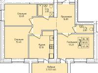 3-комнатная квартира, 84.78 м², 3/9 этаж, Наурызбай батыра 137 — Потанина за ~ 23.3 млн 〒 в Кокшетау