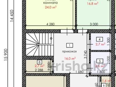 4-комнатный дом, 170 м², 400 сот., Мкр Таугуль за ~ 49.2 млн 〒 в Караганде, Казыбек би р-н