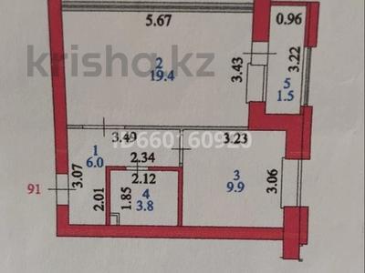 1-комнатная квартира, 40.6 м², 6/8 этаж, Улы-Дала 27 за 15.4 млн 〒 в Нур-Султане (Астана), Есиль р-н — фото 11