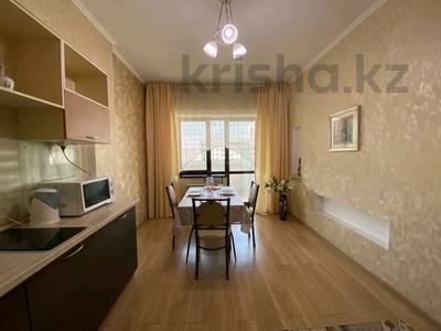 1-комнатная квартира, 48 м², 12/14 этаж посуточно, Айманова 140 — Мынбаева за 12 000 〒 в Алматы