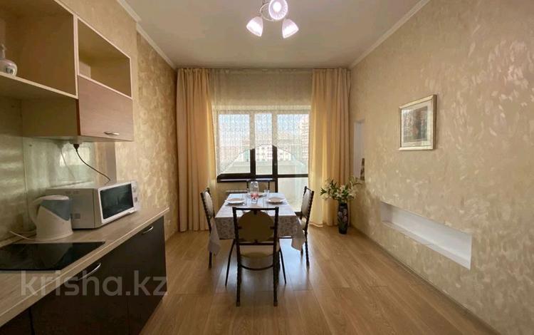 1-комнатная квартира, 48 м², 12/14 этаж посуточно, Айманова 140 — Мынбаева за 13 000 〒 в Алматы