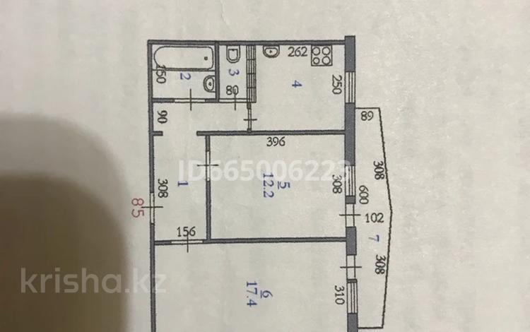 2-комнатная квартира, 53.2 м², 4/5 этаж, мкр 8, Гришина 74 за 9.5 млн 〒 в Актобе, мкр 8