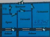 2-комнатная квартира, 49.5 м², 9/9 этаж, Байтурсынова 39/1 — Жумабаева за 11.2 млн 〒 в Нур-Султане (Астане), Алматы р-н