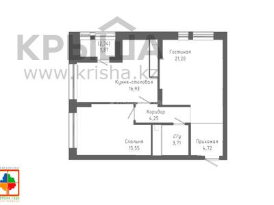 2-комнатная квартира, 68.42 м², 11/24 этаж, Қабанбай батыр 48/5 за ~ 25.1 млн 〒 в Нур-Султане (Астана), Есиль р-н — фото 11