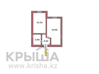 1-комнатная квартира, 35 м², 14/14 этаж, Сарыарка 41 за 10.3 млн 〒 в Нур-Султане (Астана), Сарыарка р-н — фото 4