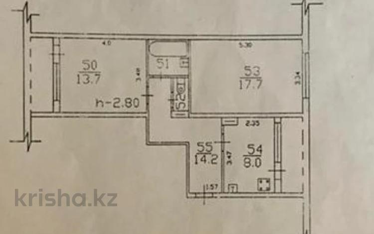2-комнатная квартира, 58 м², 6/9 этаж, мкр Аксай-1А, Толе Би (Комсомольская) — Бауыржана Момышулы за 20.5 млн 〒 в Алматы, Ауэзовский р-н