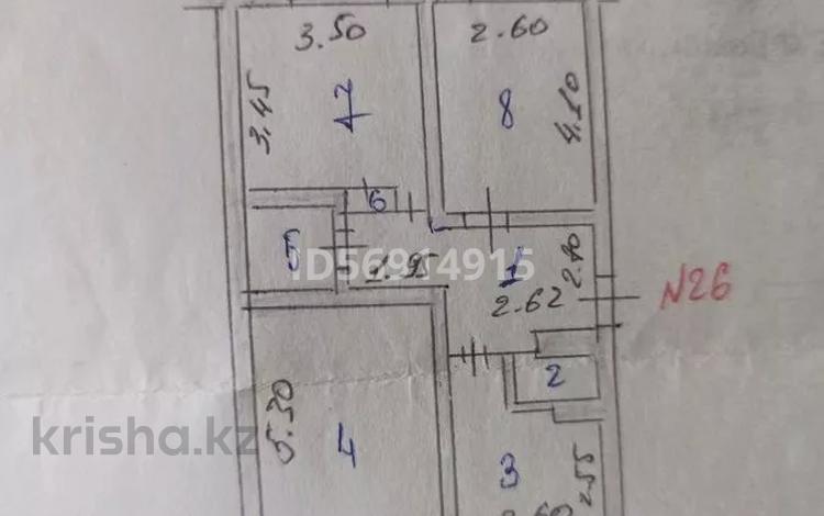 3-комнатная квартира, 63 м², 1/5 этаж, 10микр 13 — Санырак батыра ,мкрн Аса за 13 млн 〒 в Таразе