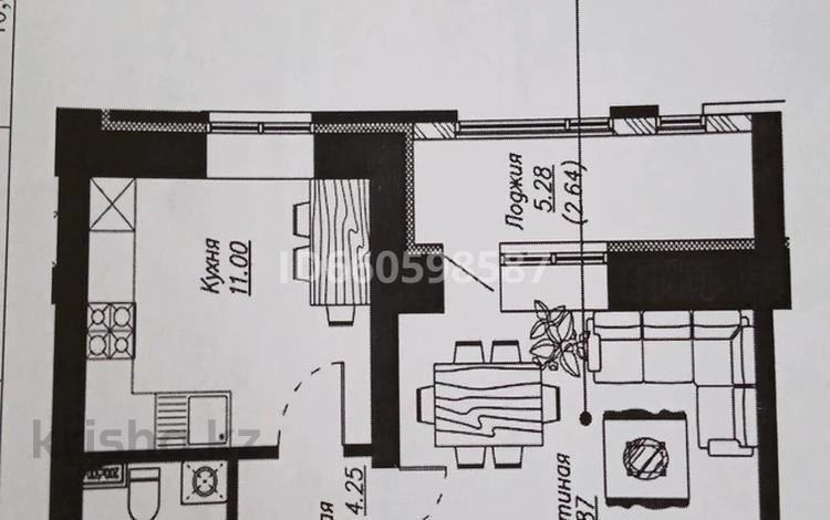 1-комнатная квартира, 40.88 м², 3/10 этаж, Айтматова — Мухамедханова за 14.2 млн 〒 в Нур-Султане (Астана), Есиль р-н