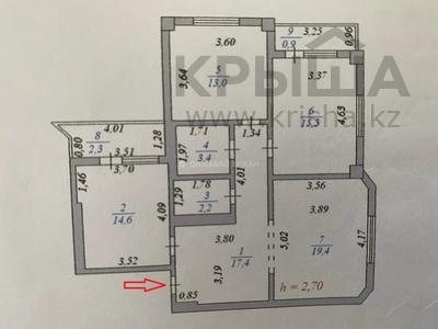 3-комнатная квартира, 90 м², 12/13 этаж, Алии Молдагуловой 27А за 24.7 млн 〒 в Нур-Султане (Астана), Сарыарка р-н — фото 2