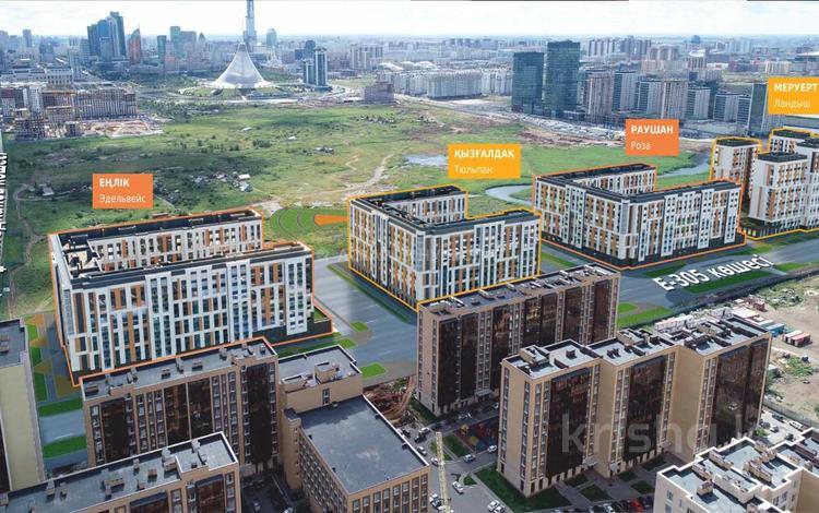 3-комнатная квартира, 78.99 м², 2/9 этаж, Кайыма Мухамедханова — Е755 за ~ 24.8 млн 〒 в Нур-Султане (Астана), Есиль р-н