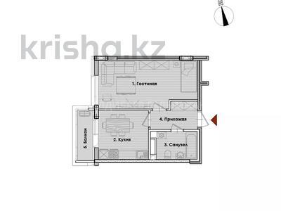 1-комнатная квартира, 37.26 м², проспект Кабанбай Батыра за ~ 13 млн 〒 в Нур-Султане (Астана), Есиль р-н — фото 7