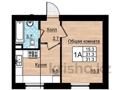 1-комнатная квартира, 31.1 м², 1/3 этаж, Кургальжинское шоссе — Актамберды жырау за ~ 5.9 млн 〒 в Нур-Султане (Астана), Есиль р-н — фото 3