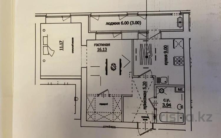 2-комнатная квартира, 48 м², 5/10 этаж, Алихана Бокейханова 3 за ~ 16.6 млн 〒 в Нур-Султане (Астана), Есиль р-н