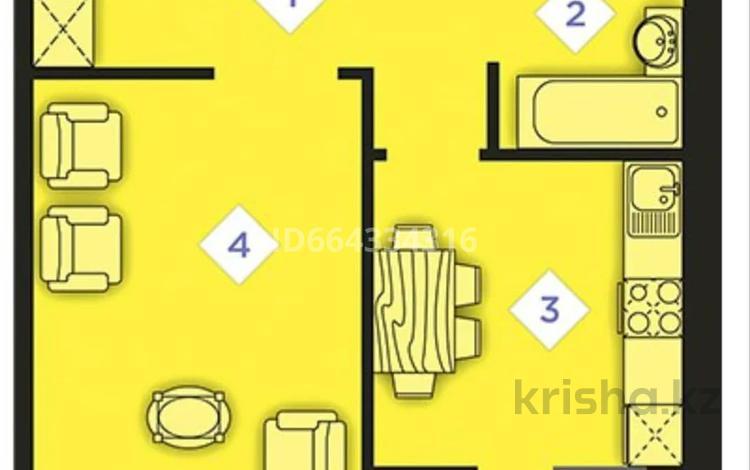 1-комнатная квартира, 37.14 м², 3/9 этаж, Шоссе Каркаралы 1 за 7.9 млн 〒 в Косшы