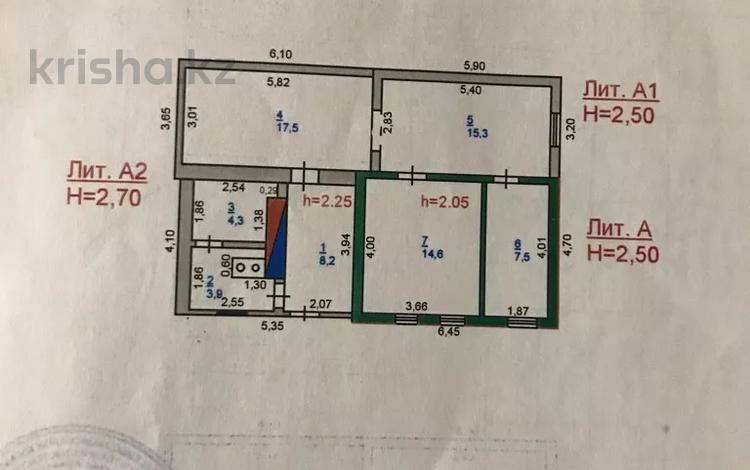 3-комнатный дом, 71.3 м², 2.5 сот., Толстого 16 — Магрулана за 8.5 млн 〒 в Павлодаре