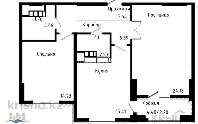 2-комнатная квартира, 76.4 м², 11/21 этаж, Варламова — Малая Абая за 31.5 млн 〒 в Алматы, Алмалинский р-н