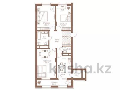 3-комнатная квартира, 98.7 м², мкр Коктобе, Сагадат Нурмагамбетова 138/2 за ~ 79.9 млн 〒 в Алматы, Медеуский р-н