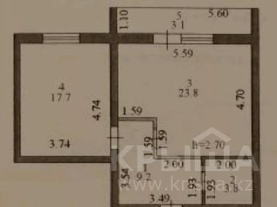 2-комнатная квартира, 58 м², 4/9 этаж, Бауыржана Момышулы 8/1 — Сатпаева за 17.5 млн 〒 в Нур-Султане (Астана), Алматы р-н — фото 2
