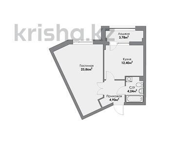 1-комнатная квартира, 48.24 м², Кайыма Мухамедханова 4а за ~ 18.3 млн 〒 в Нур-Султане (Астана) — фото 2