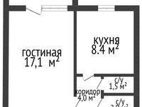 1-комнатная квартира, 34 м², 6/6 этаж, Ворошилова 3/2 за 9.2 млн 〒 в Костанае