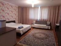 1-комнатная квартира, 55 м², 9/14 этаж посуточно, Хусаинова за 12 000 〒 в Алматы
