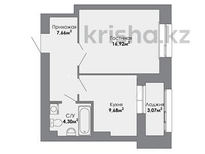 1-комнатная квартира, 40.86 м², 3/8 этаж, 37-я 1 за ~ 15.1 млн 〒 в Нур-Султане (Астана), Есиль р-н — фото 10