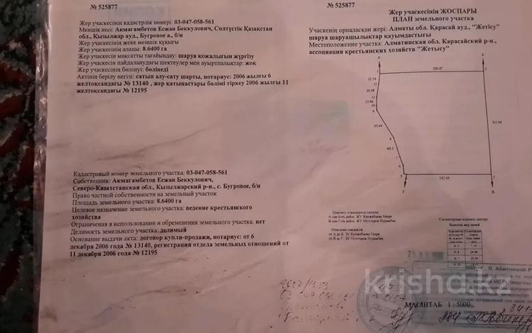 Участок 8.64 га, Каратобе за 38 млн 〒