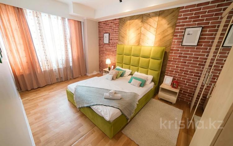 2-комнатная квартира, 75 м², 4/25 этаж посуточно, Каблукова 38г за 14 000 〒 в Алматы, Бостандыкский р-н