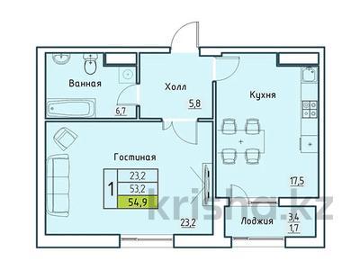 1-комнатная квартира, 54.9 м², Бокейхана 25 за ~ 15.3 млн 〒 в Нур-Султане (Астана) — фото 2