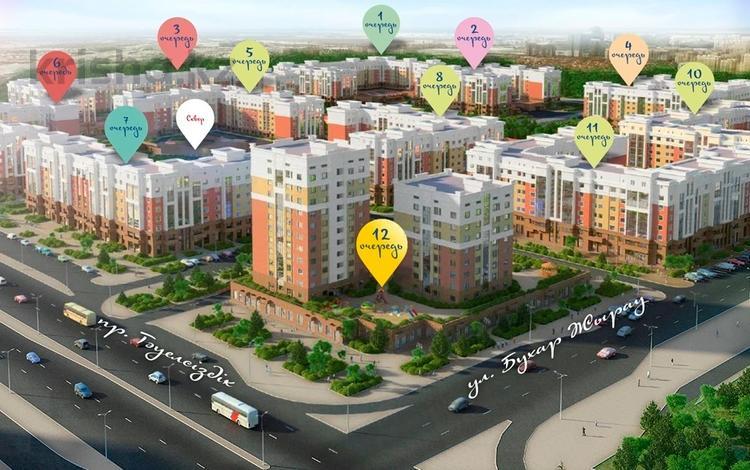 3-комнатная квартира, 77.22 м², 14/16 этаж, Е-356 6 за ~ 26 млн 〒 в Нур-Султане (Астана), Есиль р-н