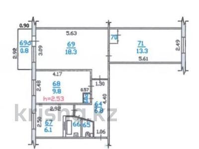 3-комнатная квартира, 59.3 м², 3/4 этаж, Панфилова — Маметовой за 24.8 млн 〒 в Алматы, Медеуский р-н — фото 23