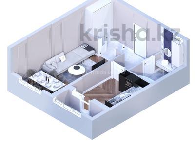1-комнатная квартира, 41.53 м², 9/18 этаж, Кенесары 6/1 за ~ 15.8 млн 〒 в Нур-Султане (Астане), Сарыарка р-н