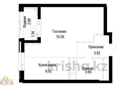 1-комнатная квартира, 35.74 м², 38-я 32 за ~ 10.7 млн 〒 в Нур-Султане (Астана), Есиль р-н — фото 3