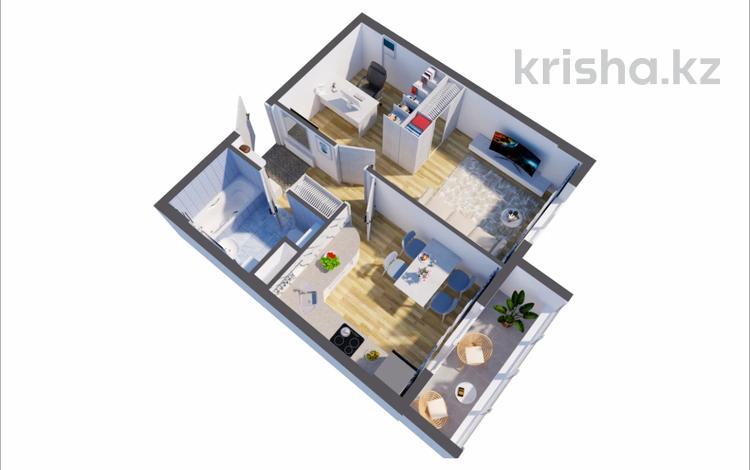 1-комнатная квартира, 41.4 м², Ч Айтматова за ~ 9.9 млн 〒 в Нур-Султане (Астана), Есиль р-н