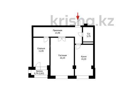 2-комнатная квартира, 68.5 м², 5/8 этаж, проспект Мангилик Ел за ~ 26.7 млн 〒 в Нур-Султане (Астана), Есиль р-н — фото 4