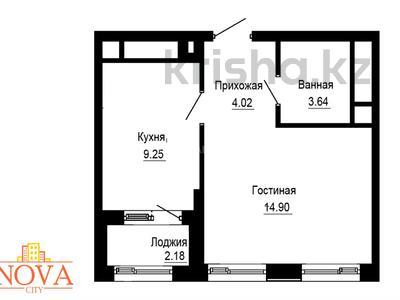 1-комнатная квартира, 33.45 м², 16/16 этаж, проспект Улы Дала — Канал Нура-Ишим за ~ 9.7 млн 〒 в Нур-Султане (Астана), Есильский р-н — фото 2