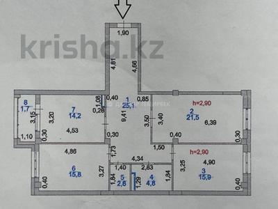 3-комнатная квартира, 105 м², 13/15 этаж, Туркестан за 43 млн 〒 в Нур-Султане (Астана), Есиль р-н — фото 12