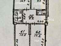 3-комнатная квартира, 68.8 м², 5/5 этаж