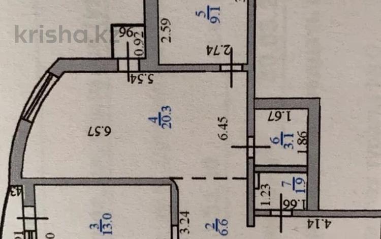 2-комнатная квартира, 65 м², 8/12 этаж, Сыганак 3 за 18.5 млн 〒 в Нур-Султане (Астана), Есиль р-н