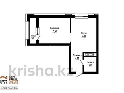 1-комнатная квартира, 42.82 м², Рыскулбекова 29 за ~ 11 млн 〒 в Нур-Султане (Астана), Есиль р-н — фото 6