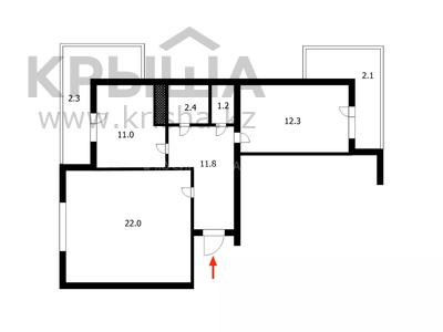 2-комнатная квартира, 65.1 м², 8/10 этаж, проспект Абылай Хана за 25.5 млн 〒 в Нур-Султане (Астана), Алматинский р-н — фото 22