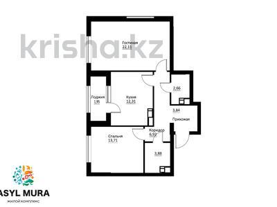 2-комнатная квартира, 68.36 м², Мухамедханова — 306 за 22.5 млн 〒 в Нур-Султане (Астана), Есиль р-н — фото 5