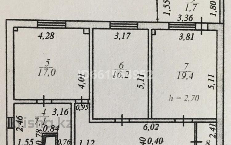 3-комнатная квартира, 110 м², 5/18 этаж, Сарыарка 17 — Сейфуллина за ~ 38.9 млн 〒 в Нур-Султане (Астана), Сарыарка р-н