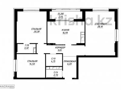 3-комнатная квартира, 110.04 м², 18/18 этаж, Улы Дала 7 за ~ 39.5 млн 〒 в Нур-Султане (Астана), Есиль р-н — фото 3