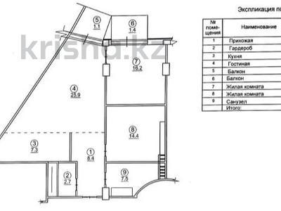 3-комнатная квартира, 84.9 м², 7/8 этаж, мкр Юбилейный, Достык (Ленина) — Аль-Фараби за 54 млн 〒 в Алматы, Медеуский р-н — фото 3