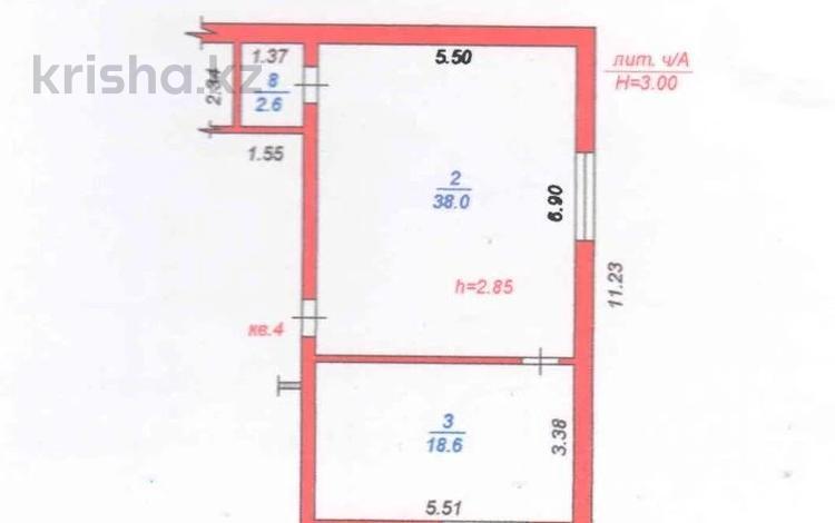 2-комнатная квартира, 59.2 м², 1/2 этаж, мкр Кайрат, Торгын 18 за ~ 12.4 млн 〒 в Алматы, Турксибский р-н