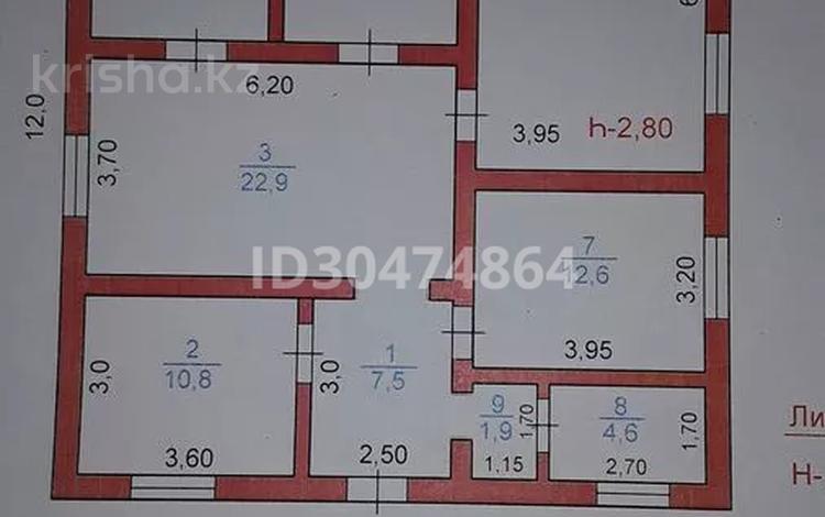 5-комнатный дом, 107 м², 8 сот., Ақсұңқар за 32 млн 〒 в Шымкенте, Каратауский р-н